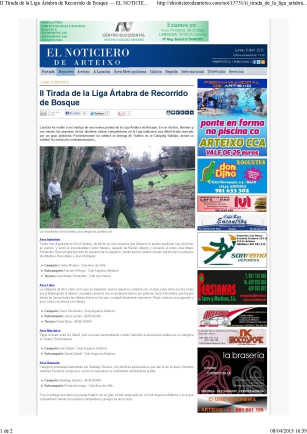 II Tirada de la Liga Ártabra de Recorrido de Bosque — EL NOTICIERO DE ARTEIXO_Página_1