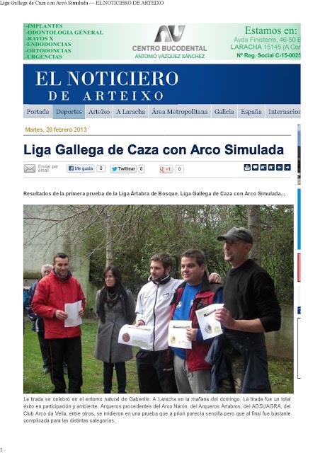 Liga Gallega de Caza con Arco Simulada — EL NOTICIERO DE ARTEIXO_Página_1
