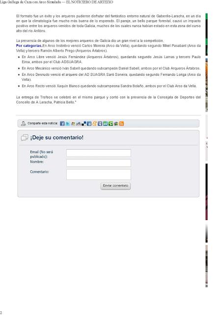 Liga Gallega de Caza con Arco Simulada — EL NOTICIERO DE ARTEIXO_Página_2