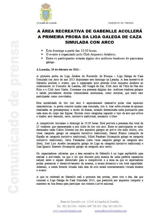 Nota de Prensa_Laracha