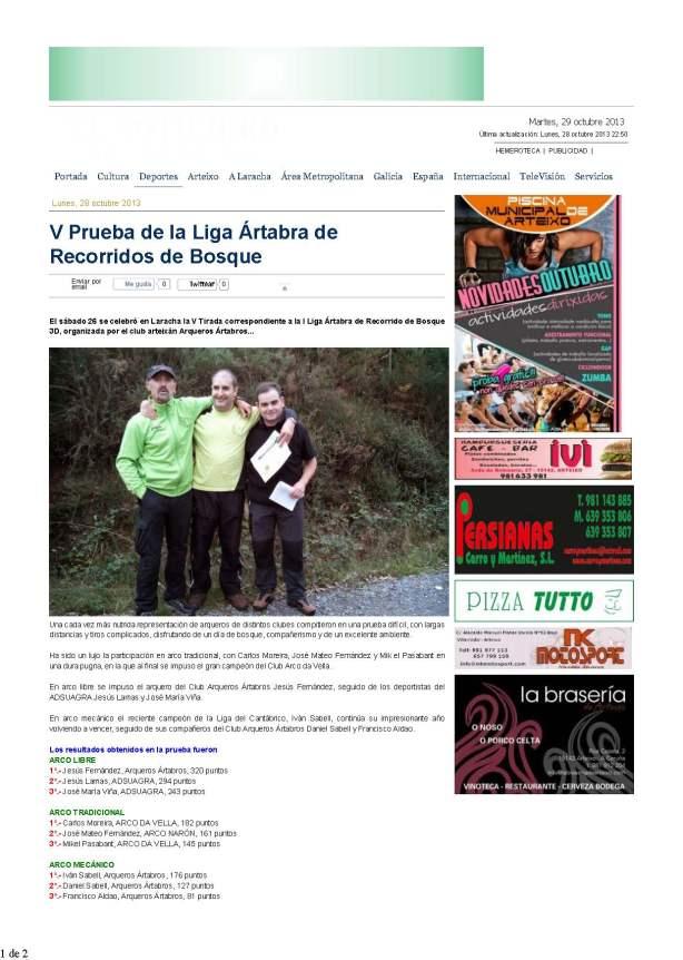 V Prueba de la Liga Ártabra de Recorridos de Bosque — EL NOTICIERO DE ARTEIXO_Página_1